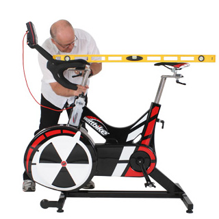 wattbike showing saddle and handle height